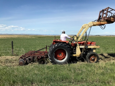 Tracy, tractor, disking 3